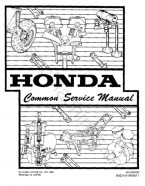 honda common maintenance repair service manual